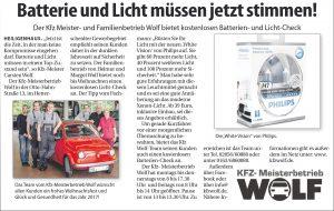 Anzeige KFZ Wolf November