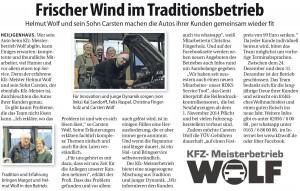 Anzeige Heiligenhaus Journal